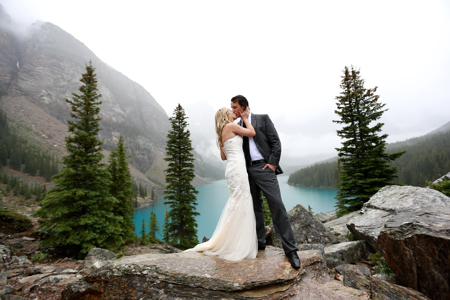 Moraine Lake Elopement, Wedding by Mark Derry Photography